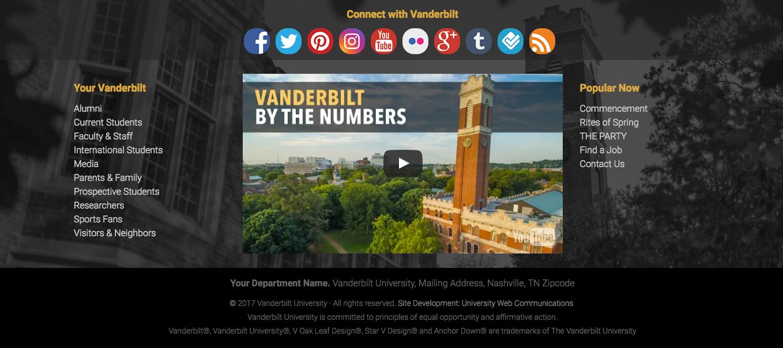 Vanderbilt Website Theme Updates