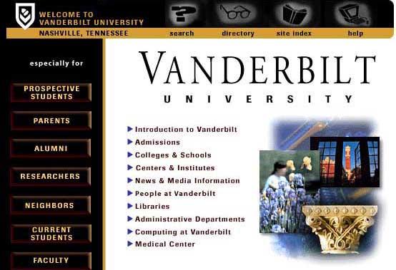 Vanderbilt's Third Graphical HomePage