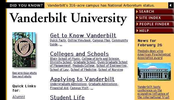 screen shot of homepage